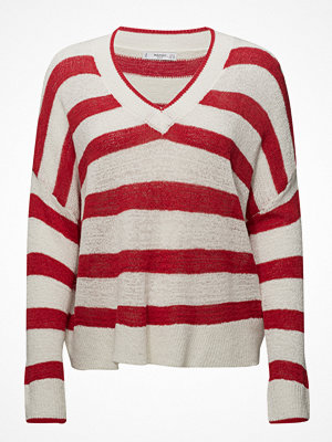 Mango V-Neck Striped Sweater