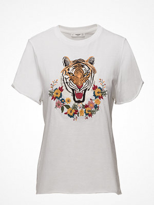 Mango Embroidered Panel T-Shirt