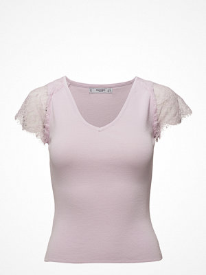 Mango Blond Lace Panel Top