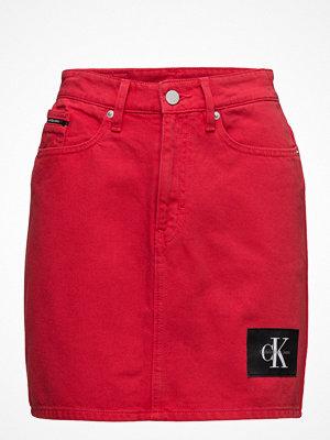 Calvin Klein Jeans Mini Skirt-Tango Red