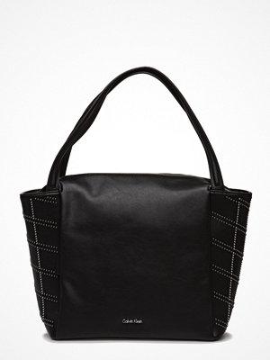 Calvin Klein svart mönstrad shopper Misha Graphic  Large