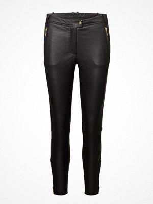 Depeche svarta byxor 7/8 Pants W/Zipper Pocket And Zipper At Bottom