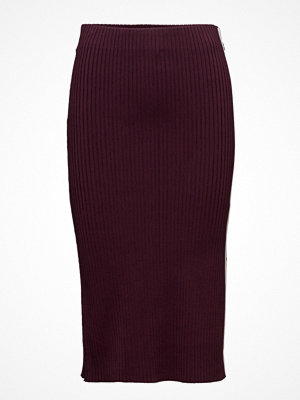 Scotch & Soda Below The Knee Knitted Tube Skirt With Sporty Stripe Detail