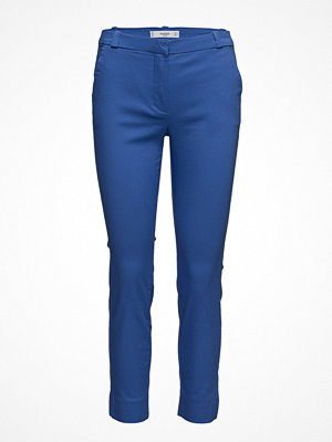 Mango blå byxor Crop Slim-Fit Trousers