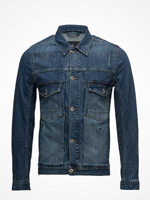 Jeansjackor - Junk De Luxe Dirty Wash Indigo Denim Jacket