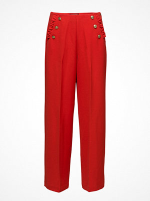 Scotch & Soda röda byxor Drapey Sailor Pant With Ruffle Pocket Detail