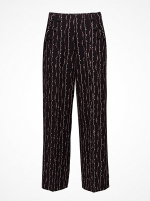 Scotch & Soda mönstrade byxor Drapey Sailor Pant With Ruffle Pocket Detail