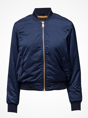 Scotch & Soda marinblå bomberjacka Satin Bomber Jacket