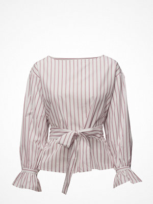 Mango Striped Bow Blouse