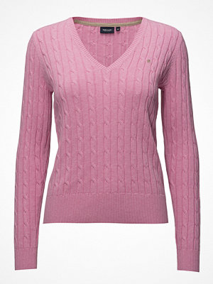 Park Lane Cable Pullover V-Neck