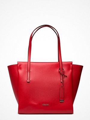 Calvin Klein Frame Large Shopper röd