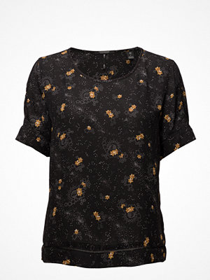 Scotch & Soda Silky Feel Printed Blouse With Ladder Tape Detail