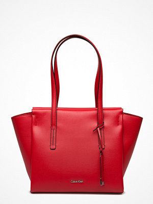 Calvin Klein Frame Medium Shopper röd
