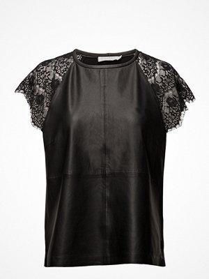 Coster Copenhagen Leather/Heavy Jersey Top W.Lace Sle