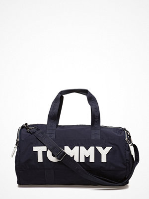 Tommy Hilfiger weekendbag med tryck Tommy Nylon Duffle