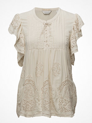Scotch & Soda Viscose Top With Special Cut Out Broderie Fabric