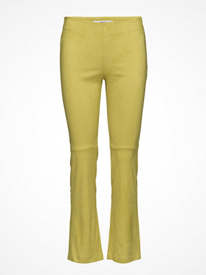 Mango omönstrade byxor Straight Seam Trousers