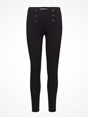 Mango svarta byxor Decorative Seam Leggings