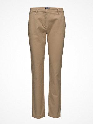 Gant beige byxor Classic Slack