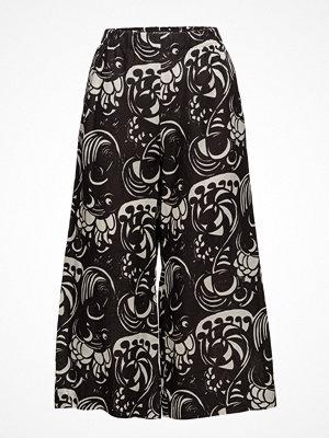 Marimekko svarta byxor med tryck Tuulelma Pieni Tiffanylle