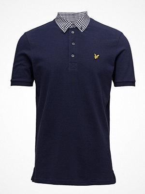 Lyle & Scott Check Woven Collar Polo Shirt