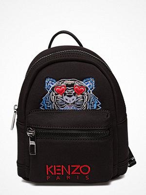 Kenzo svart ryggsäck med tryck Bag Has Back Special