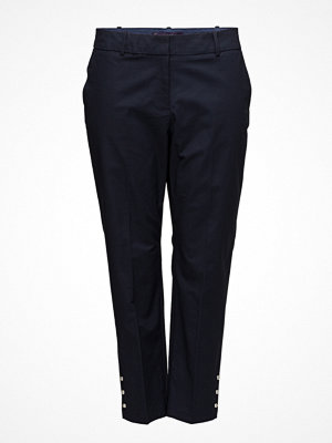 Violeta by Mango svarta byxor Cropped Button Pants