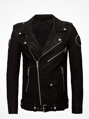 Skinnjackor - Junk De Luxe Embroidered Leather Biker Jckt