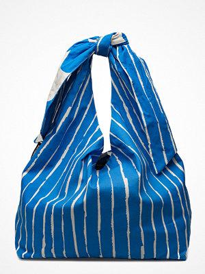 Marimekko blå randig shopper Kassi RÄKky/Lokki