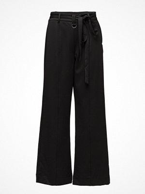 2nd One svarta byxor Hailey 819 Black Shine, Pants