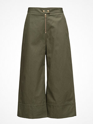 T By Alexander Wang omönstrade byxor Garment Washed Lightweight Cotton Cropped Pants