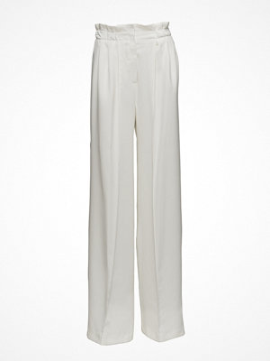 Mango ljusgrå byxor Pleat Detail Trousers