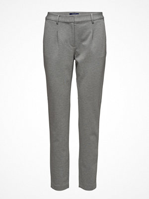 Gant grå byxor O. Jersey Slacks