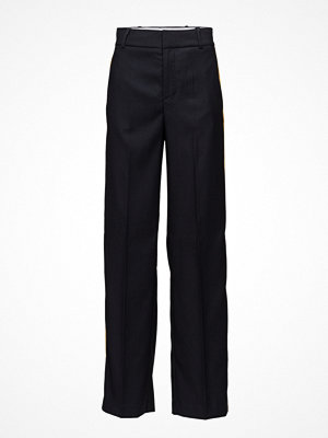 Mango svarta byxor Contrast Trim Trousers