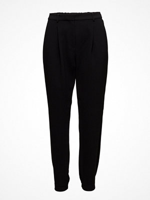 Mango svarta byxor Pleated Suit Trousers