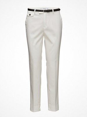 Mango vita byxor Straight Suit Trousers