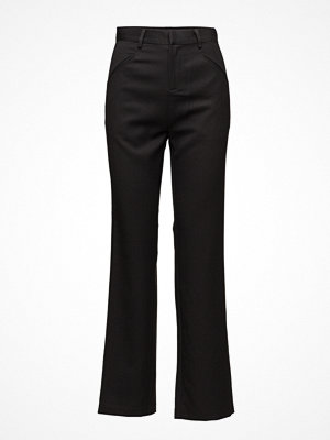 Saint Tropez svarta byxor Drop Crotch Pants W Pockets