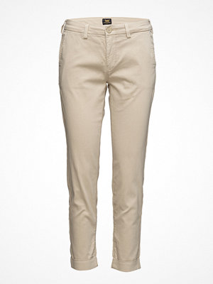 Lee Jeans omönstrade byxor Slim Chino Bleached Sand