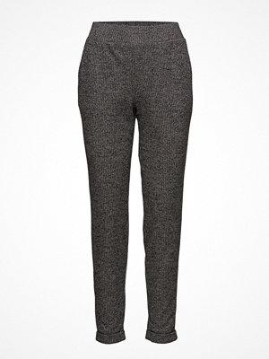 Mango mörkgrå byxor Printed Trousers
