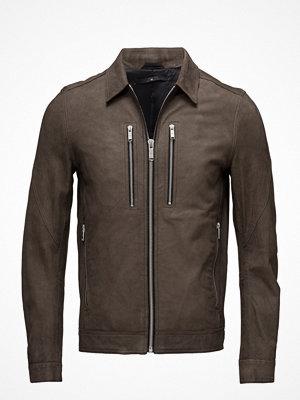Skinnjackor - Junk De Luxe Leather Trucker Jacket