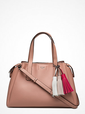 Guess beige axelväska Rudy Girlfriend Satchel