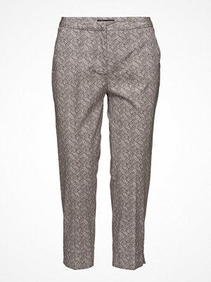 Brandtex grå mönstrade byxor Capri Pants