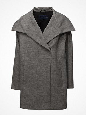 French Connection Bennie Wool Ls Wide Collr Coat