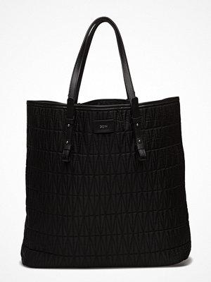 Dagmar svart mönstrad shopper Quilted Shopping Bag