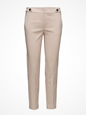 Mango omönstrade byxor Cropped Button Pants