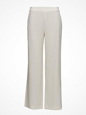 Filippa K ljusgrå byxor Clare Wide Leg Trousers