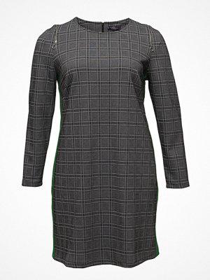 Violeta by Mango Contrasting Trims Checked Dress