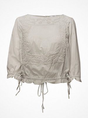 Mango Embroidered Cord Blouse