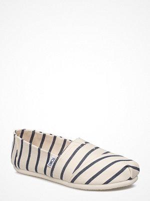 Tygskor & lågskor - Toms White/Navy Riviera Stripe
