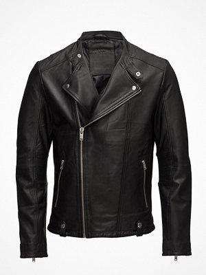 Skinnjackor - Selected Homme Shnslade Racer Leather Jkt